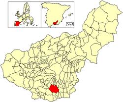 Localización de Órgiva - Granada- España